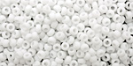 TOHO Opaque Frosted White Round 8/0 Seed Bead