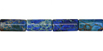 Midnight Blue Impression Jasper Tube 12x6mm