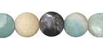 Black Gold Amazonite (matte) Round 12mm