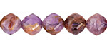 Purple Phantom Quartz Diamond Cut Faceted Round 10mm
