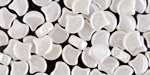 Opaque White Luster Matubo Ginkgo Leaf 7.5mm Seed Bead