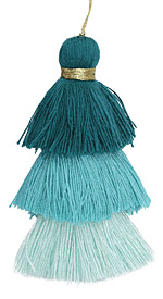 Turquoise Mix 3-Tiered Tassel 75mm