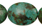African Turquoise Flat Oval 40x30mm