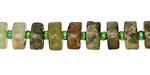 Green Garnet Wheel 4-6x8-10mm