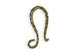 Vintaj Antique Brass (plated) Hammered Hook 12x26mm
