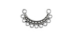 Zola Elements Antique Silver (plated) Dotted Arc Chandelier Focal 21x13mm