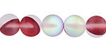 Cherry Fused Glass AB (matte) Round 10mm