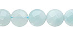 Amazonite Faceted Coin 12mm