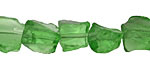 Bottle Green Recycled Glass Rough Nugget 8-15mm