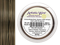 Artistic Wire Antique Brass 24 gauge, 20 yards