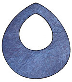Lillypilly Denim Blue Leather Large Open Teardrop 49x54mm