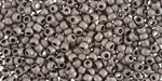 TOHO Metallic Frosted Antique Silver Round 8/0 Seed Bead