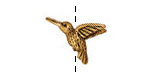 TierraCast Antique Gold (plated) Hummingbird Bead 11x18mm