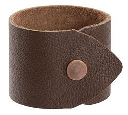 "The Lipstick Ranch Cocoa Leather Cuff Bracelet 1 7/8"" x 9"""