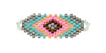 Zola Elements Flamingo Hand Woven Focal Piece 35x12mm