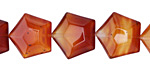 Carnelian (natural) Faceted Pentagon 15mm