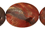 Apple Jasper Flat Oval 40x30mm