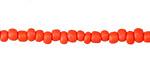 Orange Glass Seed Beads 1-3x4mm