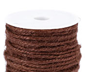 Chocolate Unpolished Hemp Twine 2mm