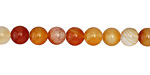 Carnelian (natural-orange) Round 6mm