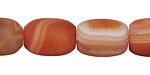Carnelian (natural-matte) Barrel 18x13-14mm
