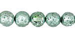 Metallic Mint (plated) Lava Rock Round 10mm