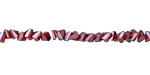 Ruby w/ Silver Luster Crystal Faceted Chevron 2x4mm