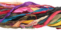 Multi-Color 100% Silk Sari Ribbon