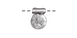 Zola Elements Antique Silver (plated) Hammered Coin Tag Drop 11x14mm