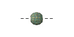 Zola Elements Patina Green Brass Woven Round 8x9mm