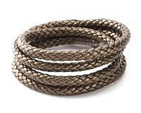 Bronze (metallic) Faux Leather Bolo Cord 7mm