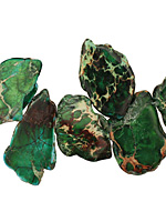 Green Impression Jasper Flat Freeform Drop Graduated 5-36x15-50mm