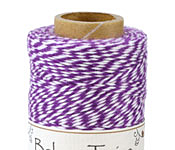 Purple/White Bakers Twine 2 ply, 410 ft