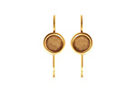 Nunn Design Antique Gold (plated) Earring Wire Circle 8mm