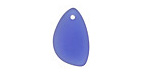 Royal Blue Recycled Glass Right Eclipse Drop 13x21mm
