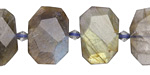 Labradorite Faceted Flat Slab 13-17x19-22mm