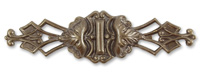Vintaj Natural Brass Repousse Wrapping Filigree 64x17mm