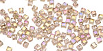 Champagne AB Crystal Faceted Cube 2mm