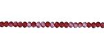 Matte Garnet AB Crystal Faceted Rondelle 3mm