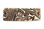Earthenwood Studio Ceramic Oxidation Floral Scroll Bracelet Bar 44-46x15-16mm