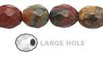 Red Creek Jasper Faceted Nugget (Large Hole) 14-16x10-12mm