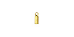 Gold (plated) Cylindrical 2mm Cord End 2.5x8mm