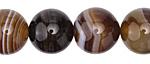 Dark Brown Line Agate Round 18mm