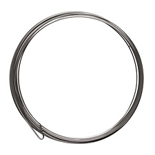 Flat Remembrance Stainless Steel Memory Wire Large Bright Bracelet .5 oz.
