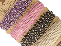 Metallic Cupcake Hemp Twine 20 lb, 29.8 ft x 4 colors