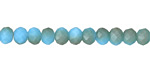 Matte Turquoise w/ Bronze Luster Crystal Faceted Rondelle 6mm