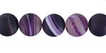 Purple Line Agate (matte) Round 10mm