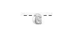 "Sterling Silver Letter ""G"" Charm Slide 6mm"