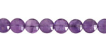 Amethyst Faceted Puff Coin 6-7mm