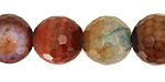 Rainbow Fire Agate Faceted Round 16mm